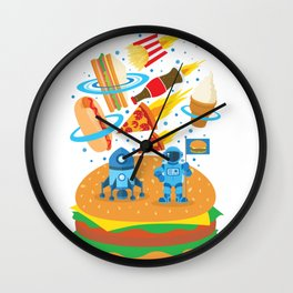 Space Burger Wall Clock