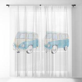 Bully Light Blue Sheer Curtain