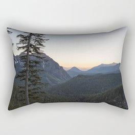 Sunset at Inspiration Point in Mount Rainier Rectangular Pillow