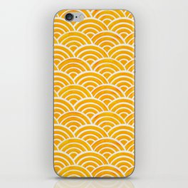 Japanese Seigaiha Wave – Marigold Palette iPhone Skin
