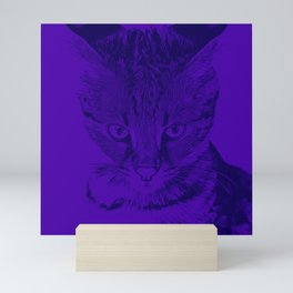 savannah cat portrait vabp Mini Art Print