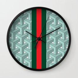Goyard guci Cheveron Pattern Wall Clock