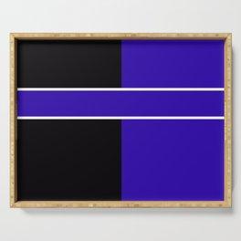 Team Colors 6...Blue,black Serving Tray