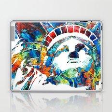 Colorful Statue Of Liberty - Sharon Cummings Laptop & iPad Skin