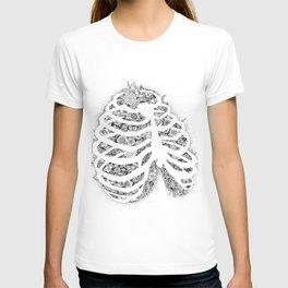 Anatomy Series: Rib Cage Flowers T-shirt