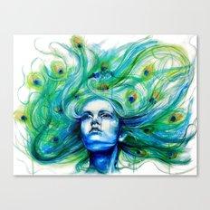Metamorphosis-peacock Canvas Print
