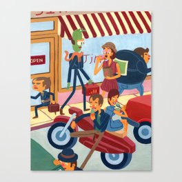 Ice Cream Greasers Canvas Print