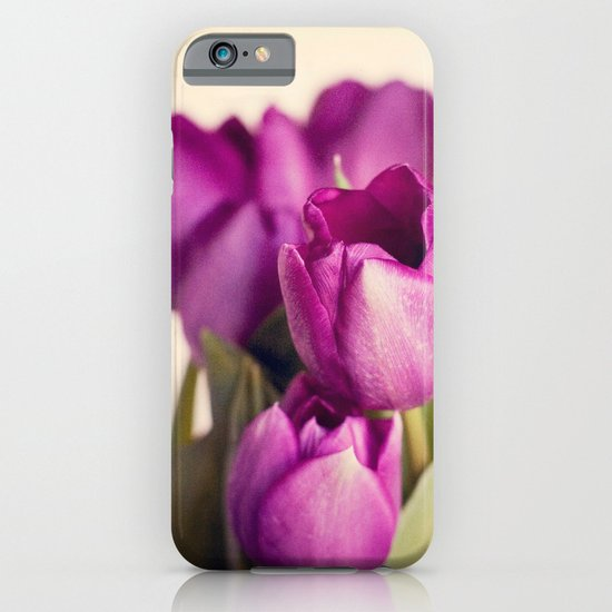 Dark Purple Tulips iPhone & iPod Case