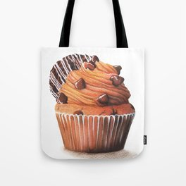 Chocolate Cookie Cupcake Illustration Tote Bag