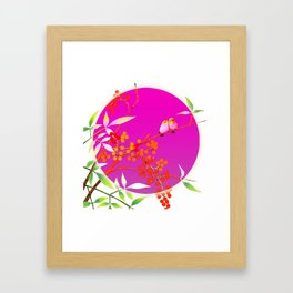 birdies romancing Framed Art Print