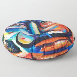 Salvador Dalí Colorful Art Painting Floor Pillow