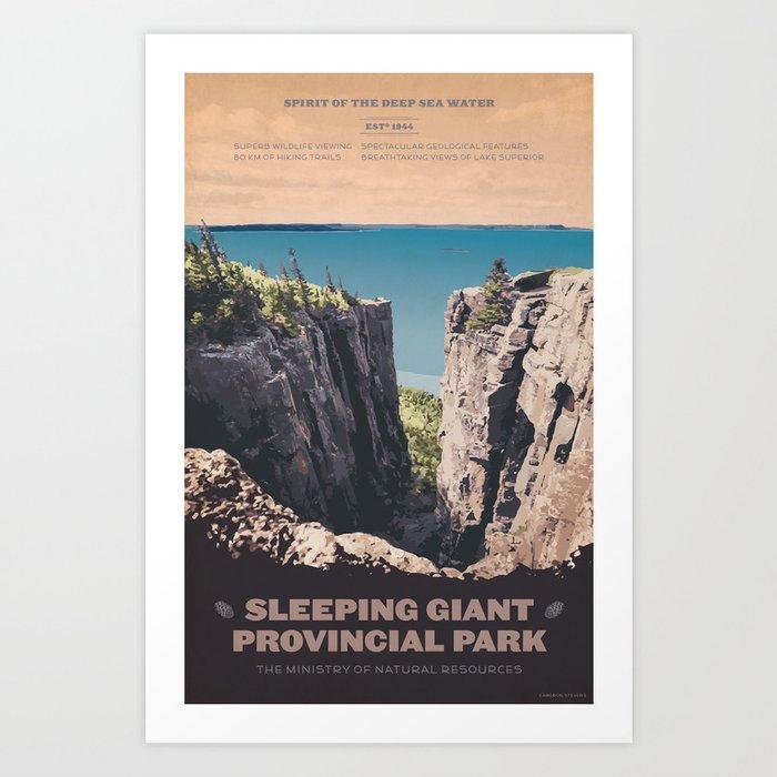 Sleeping Giant Provincial Park Art Print