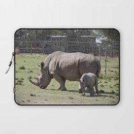 White Rhino and Calf Laptop Sleeve
