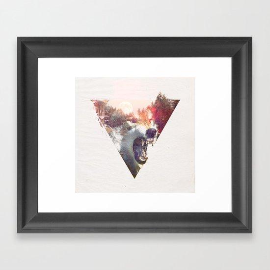 daylight moon Framed Art Print
