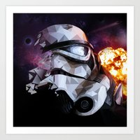 stormtrooper Art Prints featuring Stormtrooper by Ruveyda & Emre