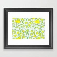 doodle brightness Framed Art Print