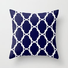 Pillow Talk- Navy Throw Pillow