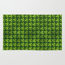 Irish Shamrock -Clover Green Glitter pattern Rug