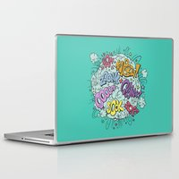 comic Laptop & iPad Skins featuring comic brawl by Peter Kramar