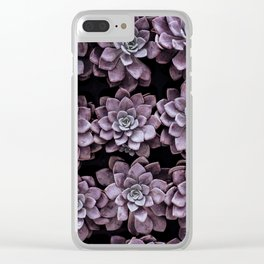 Beautifully patterned succulent plants arranged in rows Clear iPhone Case