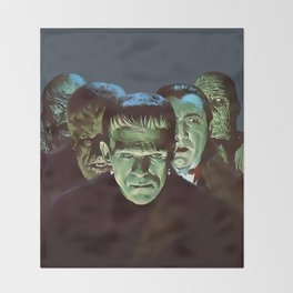 Famous Monsters Gang Throw Blanket
