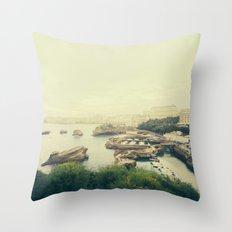 Vintage Biarritz Throw Pillow