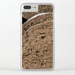 bread black piece slice Clear iPhone Case