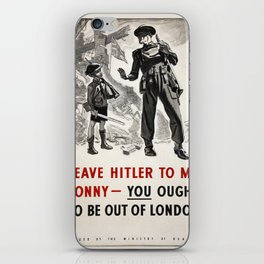 Vintage poster - Leave Him to Me iPhone Skin
