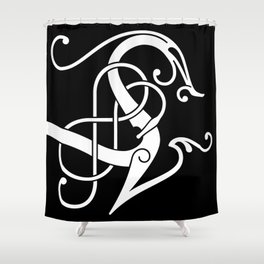 Urnes Style Ornament I Shower Curtain