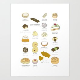 Swedish Cakes & Cookies Art Print