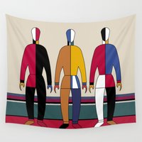 men Wall Tapestries featuring Suprematism Men by THE USUAL DESIGNERS