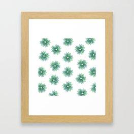 Geo Spring Flowers 01 Framed Art Print