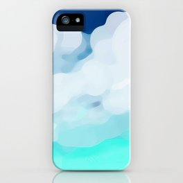 Simple background landscape with clouds iPhone Case