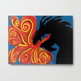 Dragon Fire Metal Print