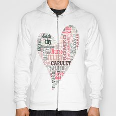 Shakespeare's Romeo and Juliet Heart Hoody
