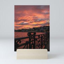 Romantic Sunset View Mini Art Print