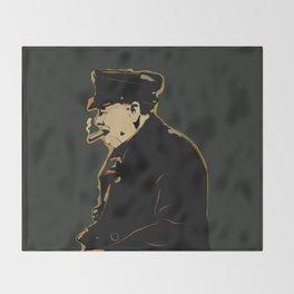 Winston Churchill Pop Art Quote Throw Blanket