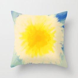 Shine Bright, Dandelion Turning White Throw Pillow