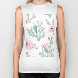 Simply Cactus Rose Biker Tank