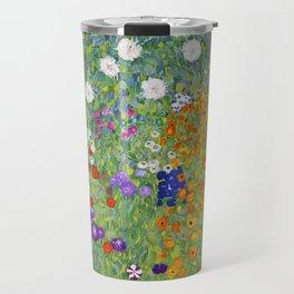 Flower Garden - Gustav Klimt Travel Mug
