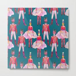 Nutcracker Ballet - Teal Blue Metal Print