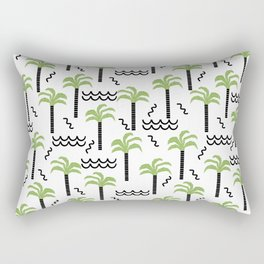 Palm trees tropical minimal ocean seaside socal beach life pattern Rectangular Pillow