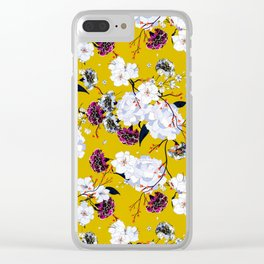 Floral 006 Clear iPhone Case