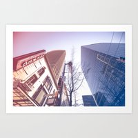 Vancouver Lines Art Print