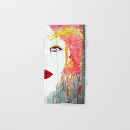 Angry Girl Hand & Bath Towel