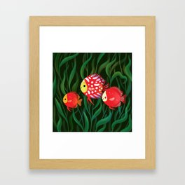Red discus Framed Art Print