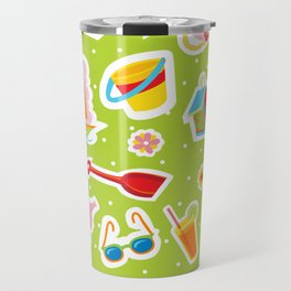 Summer Fun Green Travel Mug
