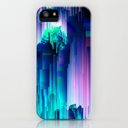 Glitches Be Trippin' - Abstract Pixel Art iPhone Case