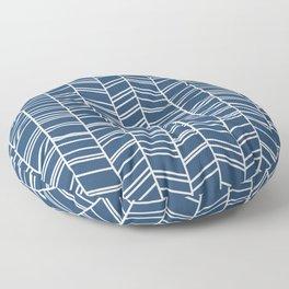 Navy Herringbone Floor Pillow