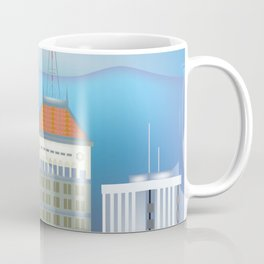 Fresno, California - Skyline Illustration by Loose Petals Coffee Mug